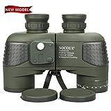 NOCOEX 10X50 Wasserdichtes Beschlagfreies Militär-Marine-Fernglas mit Entfernungsmesser und Kompass...