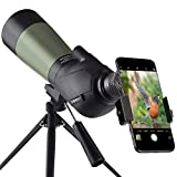 Gosky 20-60x60mm Spektiv, wasserdicht, stoßfest, mit Stativ und Digiscoping-Adapter, BAK4-Prismen,...
