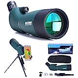 25-75x70 Spektiv mit Stativ, Tragetasche und Smartphone Adapter, HD Wasserdichtes Monokularfernrohr...