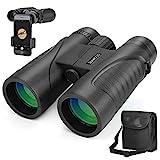 DIAHOUD Fernglas 12x42 HD Kompakte Ferngläser Wasserdicht für Vogelbeobachtung, Wandern, Jagd,...