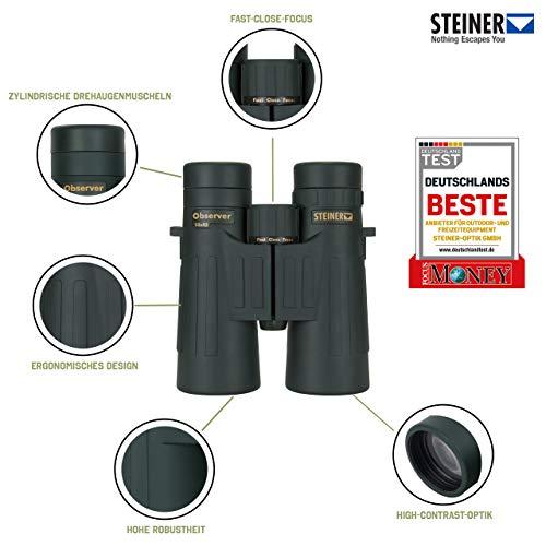 Steiner Observer 10x42 Fernglas - detailreich, hohe Vergrößerung, geringes Volumen - Der...