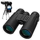 Usogood 12x50 Fernglas mit Stativ Kompakte Wasserdichtes Ferngläser mit Nachtsicht für Vögelbeobachtung...
