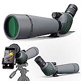 Gosky ED Spektiv mit Doppelter Fokussierung 20-60x 80mm mit Smartphone-Adapter, Spektive mit Extra...