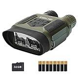 ESSLNB Nachtsichtgerät 7X Vergrößerung mit 8 AA Batterien und 32GB Karte 4' LCD Bildschirm 1300...