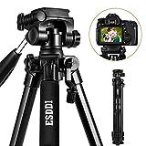 ESDDI 170cm/67inches Kamera Stativ Aluminiumlegierung Stativ Kompakt Leichtes Stativ für Smartphone...