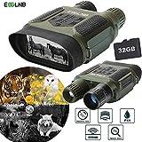 ESSLNB Binokulares Nachtsichtgerät Jagd Militär Infrarot Fernglas mit Nachtsicht mit 8GB Karte und...