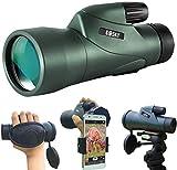 Gosky 12x55 High Definition Monokular Teleskop und schneller Smartphone-Halter - Neuestes...