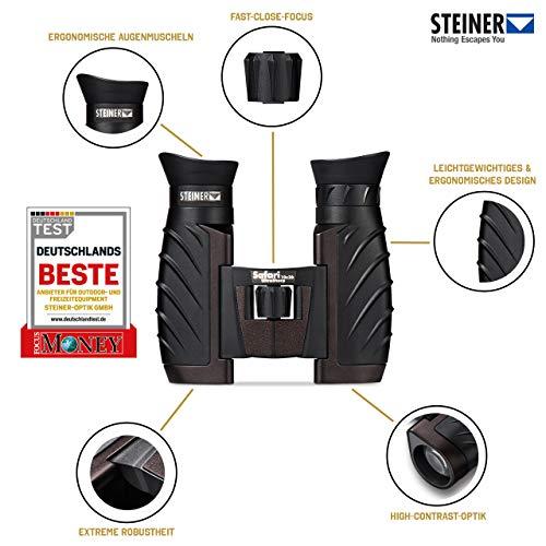 Steiner Safari UltraSharp 10x26 Fernglas - kompakt, große Vergrößerung, robust, wasserdicht,...