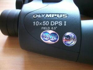 Olympus 10x50 Vergrößerungszahl und Objektivdurchmesser