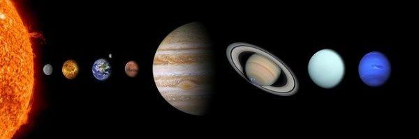 Sonnensystem - Größenverhältnis der Planeten